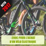 200€ pour l'achat d'un vélo électrique